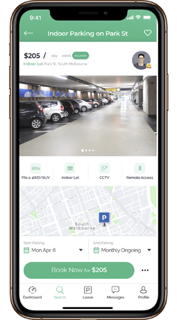 Search for parking in your city