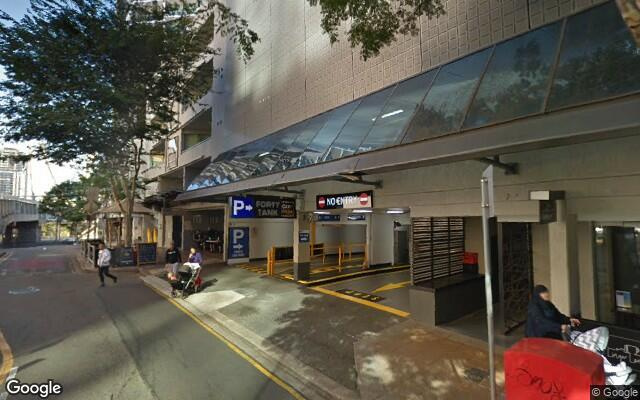 parking on Tank Street in Brisbane City QLD
