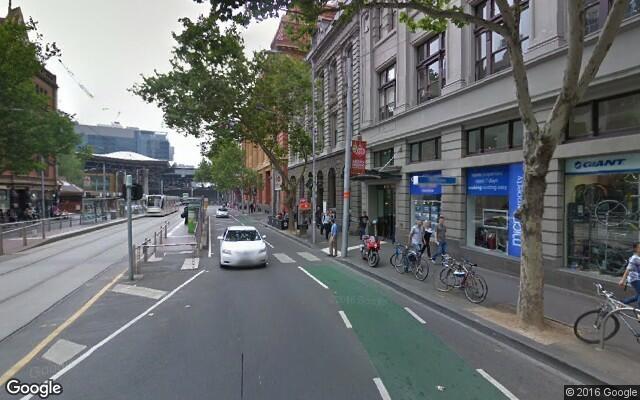 parking on Bourke Street in Melbourne