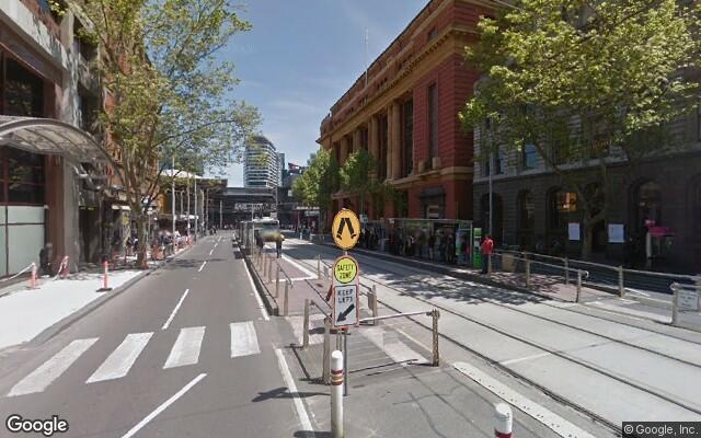 parking on Bourke Street in Melbourne
