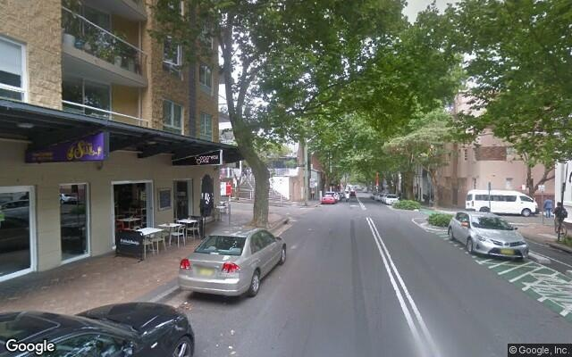 parking on Campbell Street in Surry Hills