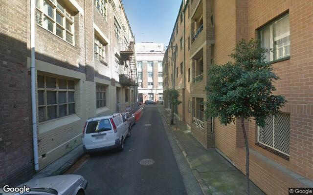 parking on Dangar Place in Chippendale New South Wales
