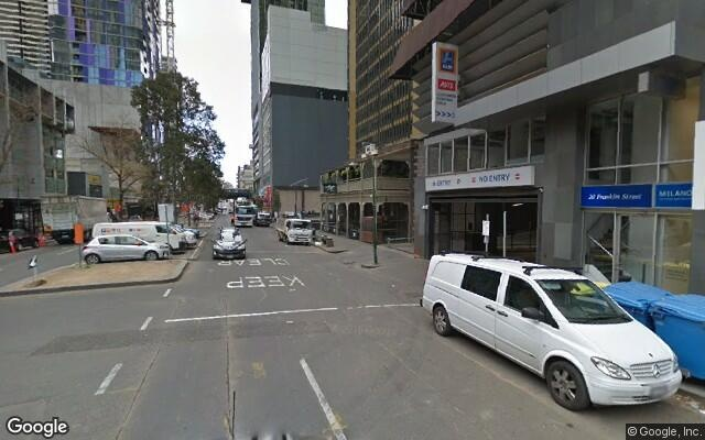 parking on Franklin Street in Melbourne