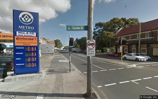 parking on Garden St in Alexandria NSW 2015