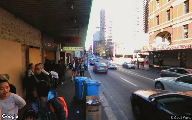 parking on George Street in Sydney NSW