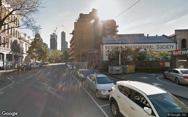 parking on MacKenzie Street in Melbourne