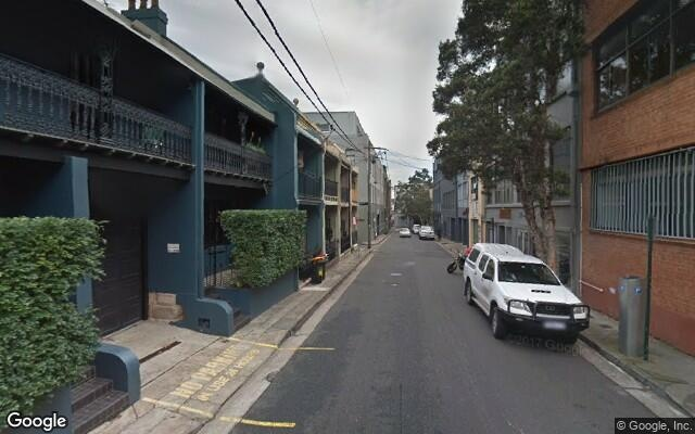parking on Queen Street in Chippendale NSW