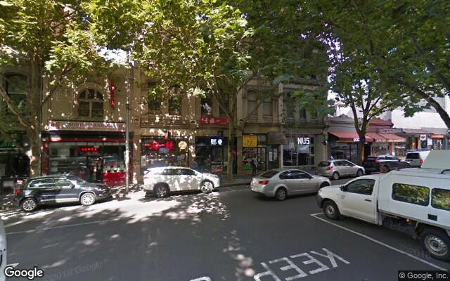 parking on Russell Street in Melbourne
