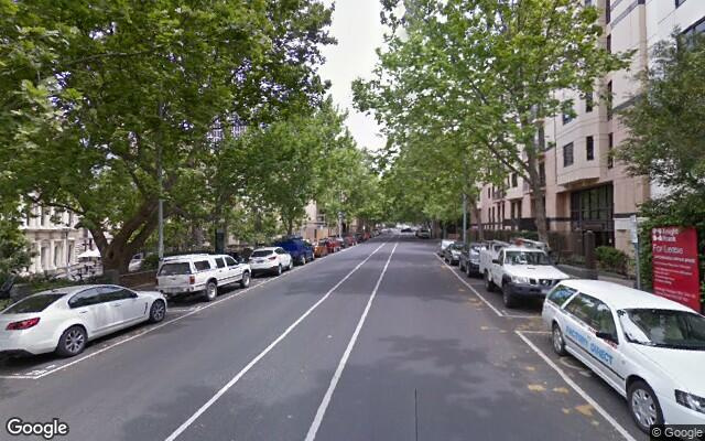 parking on Saint Andrews Place in East Melbourne