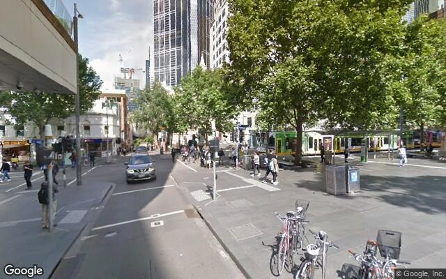 parking on Swanston Street in Melbourne VIC