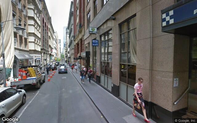 parking on Swanston Street in Melbourne