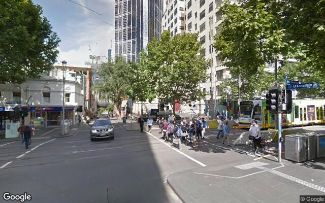 parking on Swanston Street in Melbourne