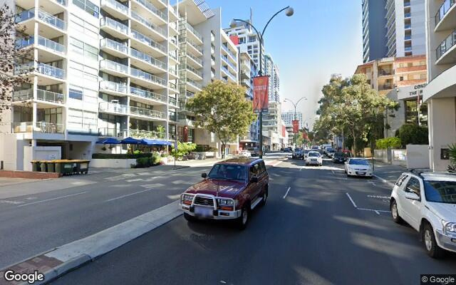 parking on Adelaide Terrace in East Perth Western Australia