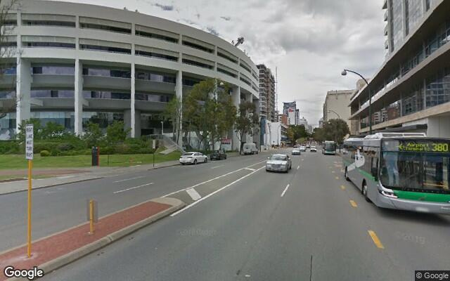 parking on Adelaide Terrace in Perth WA