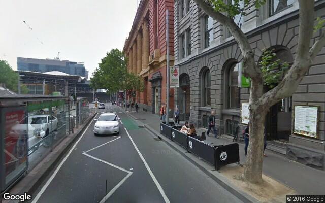 parking on Bourke St in Melbourne