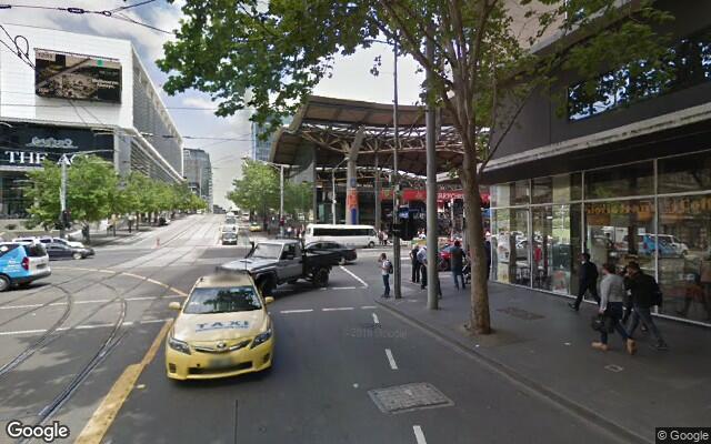parking on Collins Street in Melbourne