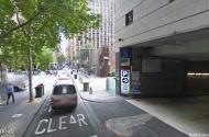 parking on Flinders Lane in Melbourne