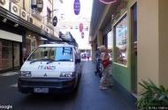 parking on Flinders St Melbourne in Southbank