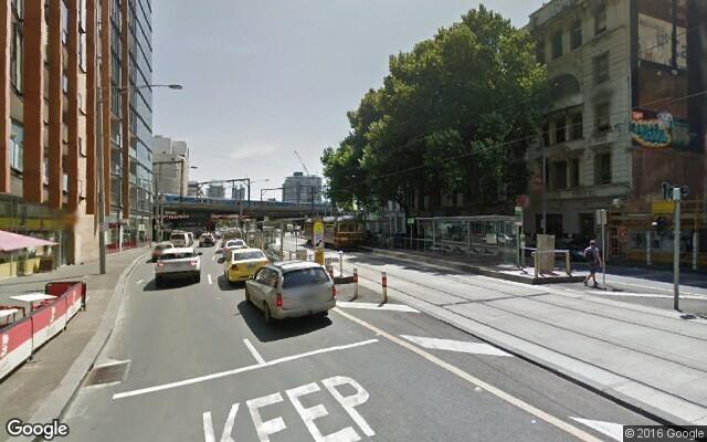 parking on Flinders Street in Melbourne