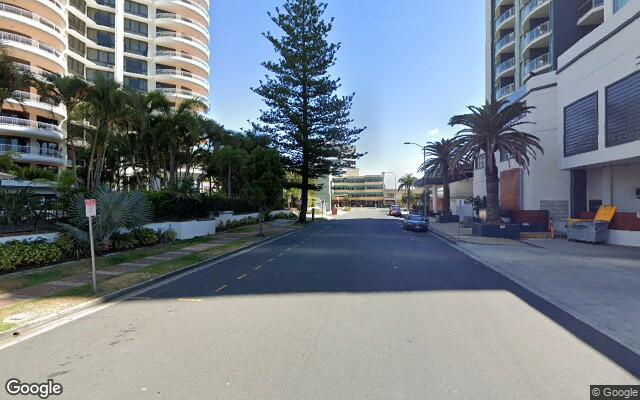 parking on Laycock Street in Surfers Paradise Queensland