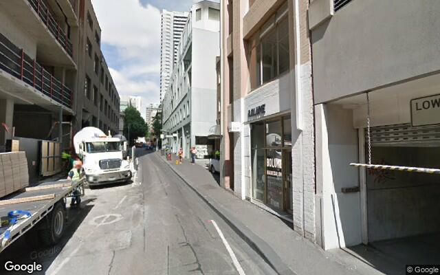parking on Little Lonsdale Street in Melbourne