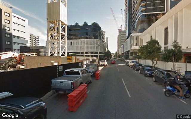 parking on Longland Street in Newstead QLD