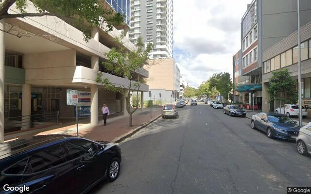 parking on Macquarie Street in Parramatta New South Wales