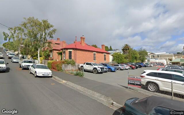 parking on Melville Street in Hobart Tasmania