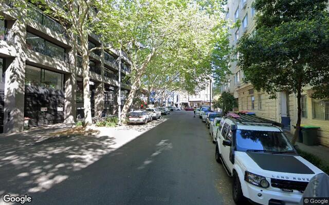 parking on Onslow Avenue in Elizabeth Bay New South Wales