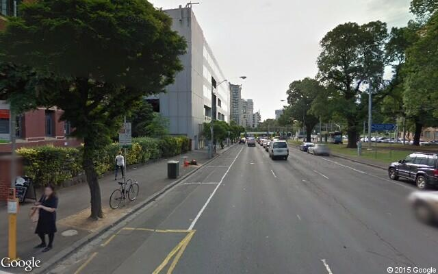 parking on Victoria Parade in East Melbourne