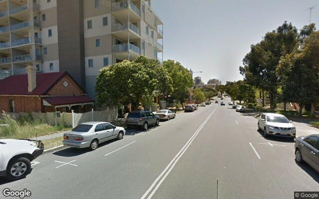 parking on Wellington St in East Perth