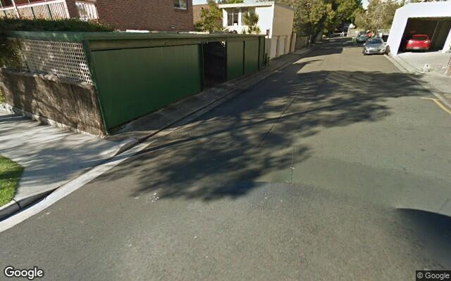 parking on Martens Lane in Mosman NSW