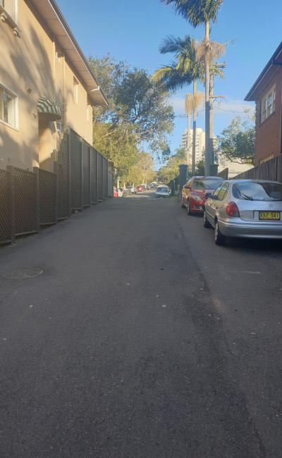 Large parking space close to the ferry and Manly beach