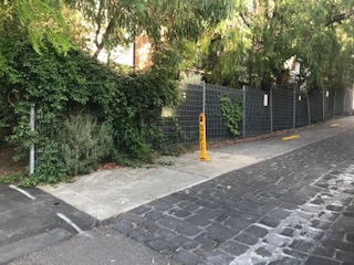 parking on Bach Lane in Fitzroy