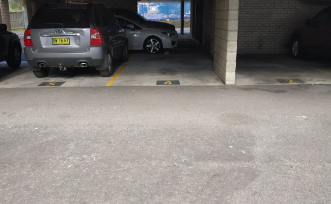 Undercover parking on Cottonwood Crescent in Macquarie Park