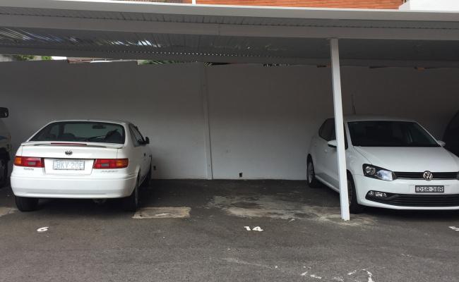 Undercover parking on Edward St in Bondi NSW