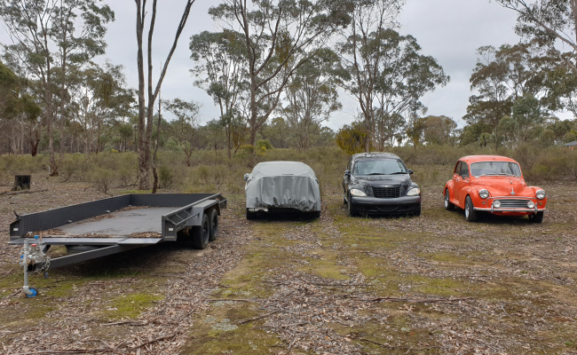 parking on Lewis Road in Maldon Victoria