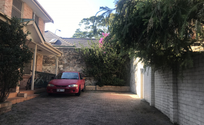 Spacious off-street parking in superb location