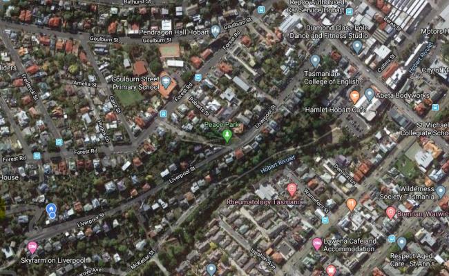 parking on Liverpool Street in West Hobart Tasmania
