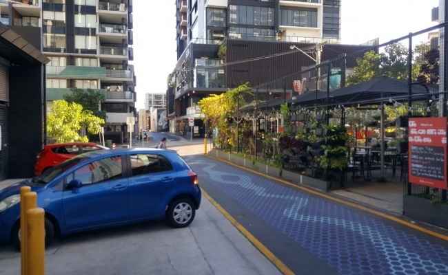 parking on Melbourne Street in South Brisbane QLD