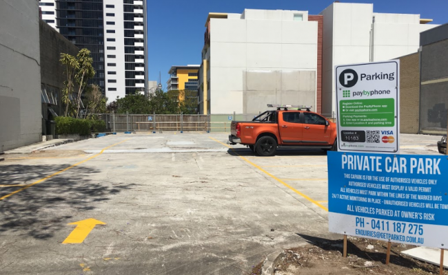 parking on Peel Street in South Brisbane