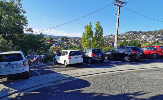 parking on Una Street in Mount Stuart Tasmania