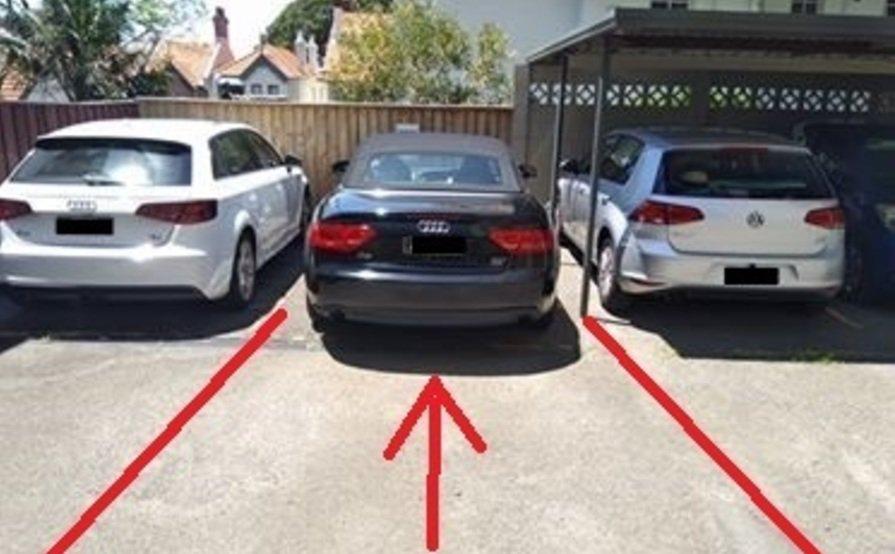 parking on Upper Pitt St in Kirribilli
