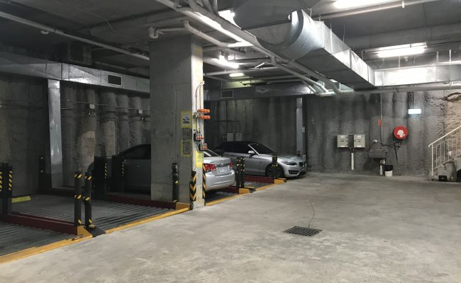 Great secure underground car space. max height 1.5m