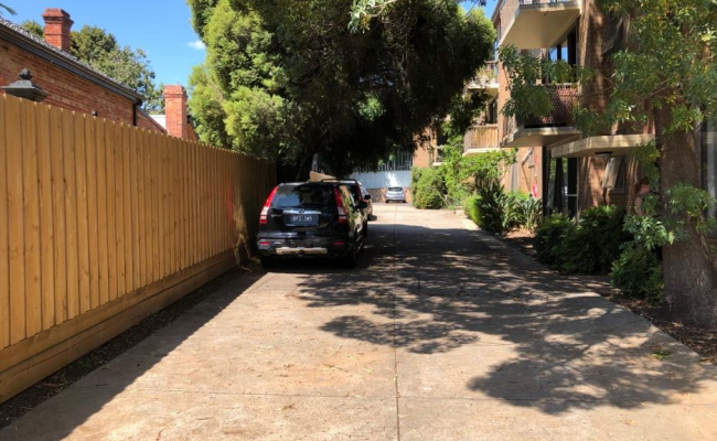 Driveway parking on Alfred Crescent in Fitzroy North Victoria 3068