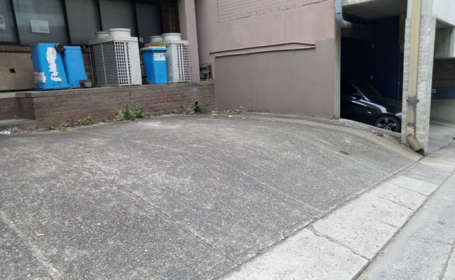 Outdoor lot parking on Atchison Street in St Leonards New South Wales