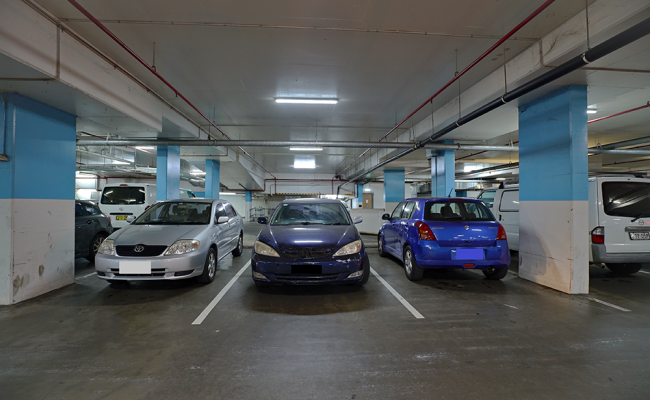 Indoor lot parking on Auburn Central Shopping Centre in Auburn