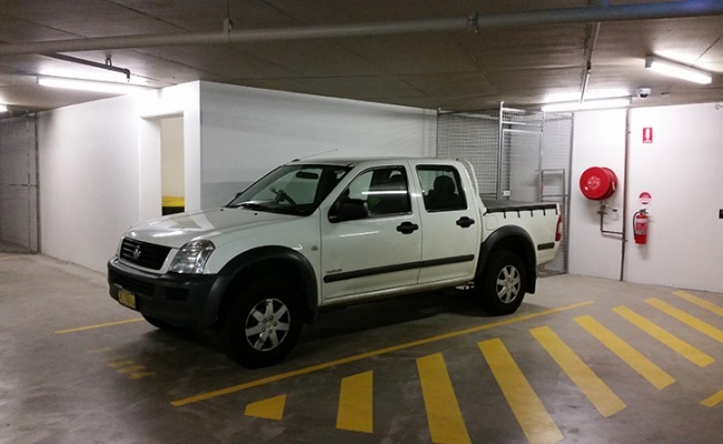 Undercover parking on Australia Avenue in Sydney Olympic Park NSW