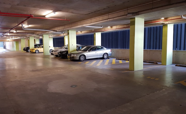 Undercover parking on Australia Avenue in Sydney Olympic Park