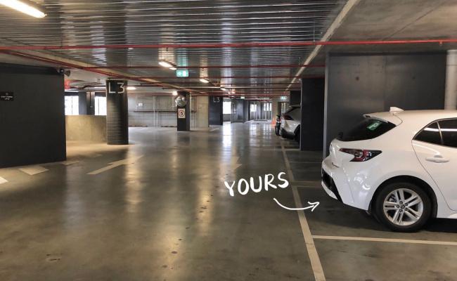 Lock up garage parking on Balston Street in Southbank Victoria
